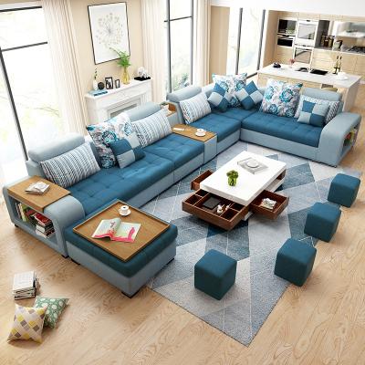 怡红院 沙发 布艺沙发客厅大小户型现代家具整装组合简约可拆洗转角乳胶布沙发