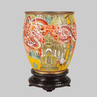 中国工艺美术师米振雄景泰蓝《画缸-故宫》