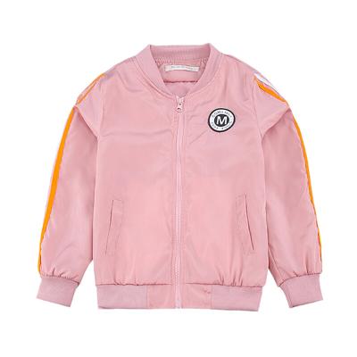 女童外套春秋潮流上衣中大童夾克兒童棒球服開衫