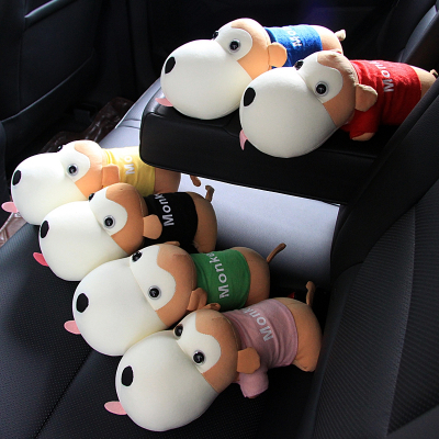 汽車擺件創意內飾長嘴猴竹炭包狗閃電客車內裝飾品車上擺件除味車載用品 萌猴黑