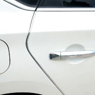 怡灵 新款夜光车防撞条边防擦防蹭贴 通用汽车防撞胶条防护用品 电镀银 四个车门10米