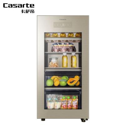 卡薩帝(Casarte)LC-132WDU1 132升時尚冰柜 家用商用小冰箱 客廳冷柜 辦公室冰箱 辦公室家電健康家電