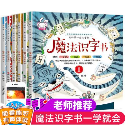 我的第一本漢字書學前閱讀與魔法識字書6冊魔法拼音國 認字書3-6歲幼兒早教書幼小銜接幼兒園寶寶書籍0-3歲幼小銜接早教啟