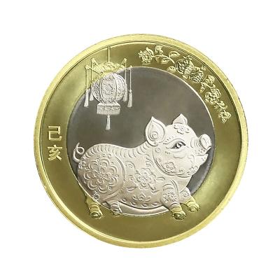 中钱 中国金币 2019年猪普通贺岁纪念币 单枚(送亚克力壳)