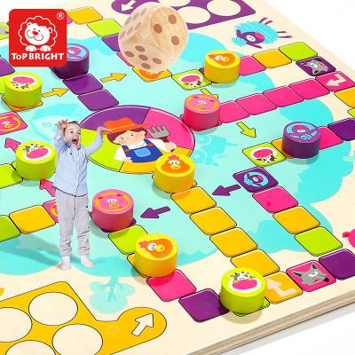 特宝儿(topbright)开心飞行棋儿童玩具 3岁以上 女孩男孩 木制 益智玩具 120341