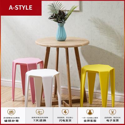 蘇寧放心購塑料凳折疊方凳時尚家用餐桌凳創意彩色圓凳子現代簡約小椅子(1把不發貨)A-STYLE