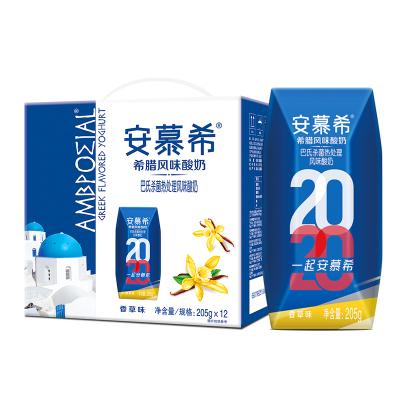 伊利安慕希希腊风味酸牛奶香草味盒装205g*12