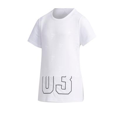 阿迪達斯(adidas)YG EL SS TEE 大童裝訓練運動短袖T恤FM9844
