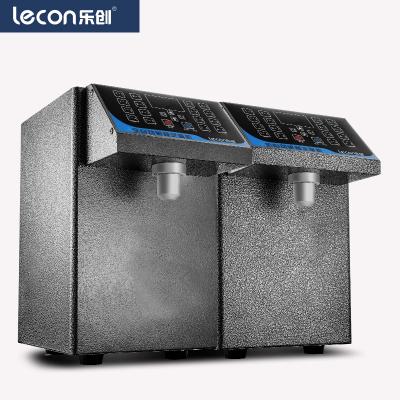 乐创(lecon)LC-16定量果糖机 奶茶店设备全套水吧台专用全自动果糖商用定量机16格台湾奶茶果糖机 黑色款