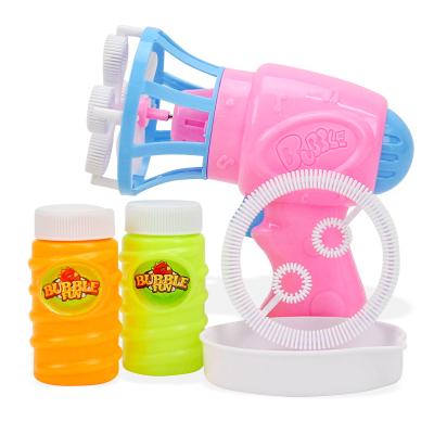 儿童电动风扇泡泡枪自动吹泡泡玩具电动泡泡机男孩女孩玩具