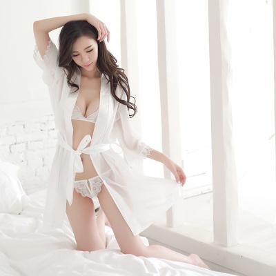 大码性感透视情趣内衣内裤透明薄纱睡裙女夏极度诱惑三点睡衣套装
