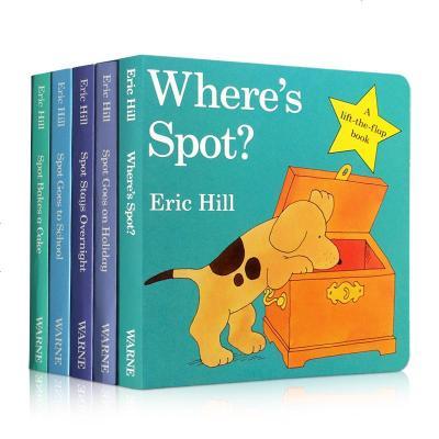 0507【送音頻】英文原版繪本 Where's is Spot 小玻在哪里?紙板書5本 英語啟蒙益智躲貓貓親子游戲翻