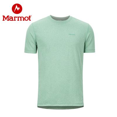 Marmot/土拨鼠19春夏户外透气速干吸汗男式短袖T恤