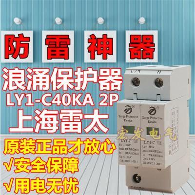 上海雷太浪涌?;て?LY1-C 电涌?;て?SPD 20-40KA 2P 防避雷器
