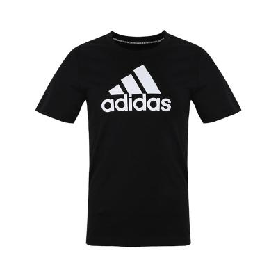 阿迪達斯(adidas)夏季男大童裝訓練運動短袖T恤DV0816