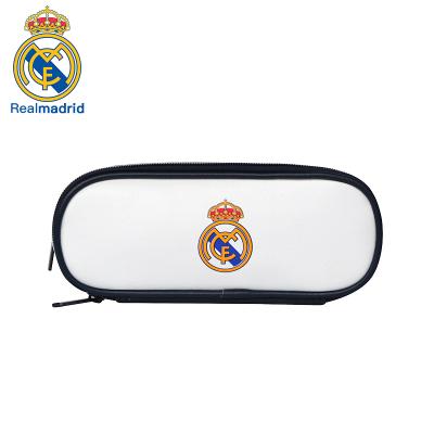 皇家馬德里Realmadrid官方正品時尚男女士多功能休閑包運動戶外商旅旅行手拿筆包文具收納包白色