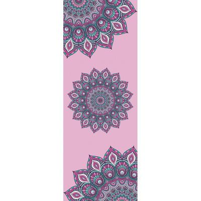 瑜伽墊鋪巾防滑麂皮絨橡膠瑜伽墊4可折疊2印花鋪巾八月七