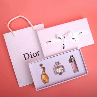 Dior迪奧女士香水Q版三件套禮盒(真我+甜心+魅惑)每瓶5ml小樣 淡香