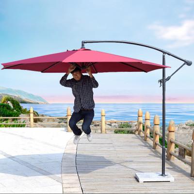 京好 户外遮阳伞 香蕉伞摆摊庭院花园沙滩遮雨摆摊双层防紫外线大太阳伞可印刷商标广告E13