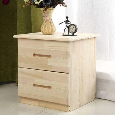 异新床头柜实木收纳柜储物柜松木床头柜实木地柜简约环保储藏柜