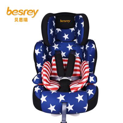 德国besrey儿童安全座椅9个月-12岁 isofix硬接口汽车安全座椅 BY1512 美洲风