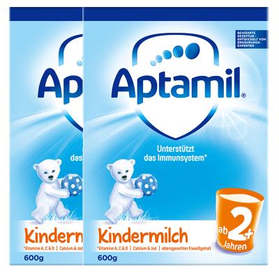 2罐裝|【均衡營養】Aptamil 德國愛他美 兒童配方奶粉 易樂罐 2+段/5段(2歲以上)600g/罐 紙盒裝