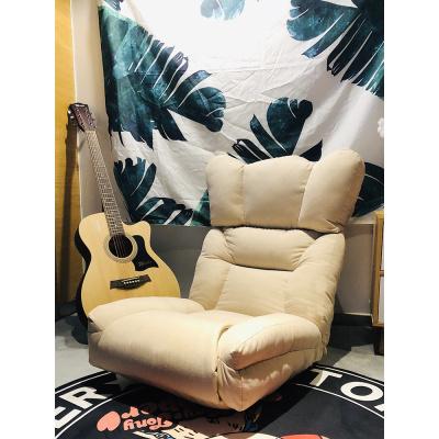 唐臻懶人沙發單人榻榻米沙發可折疊坐墊陽臺飄窗休閑椅床上靠背懶人椅