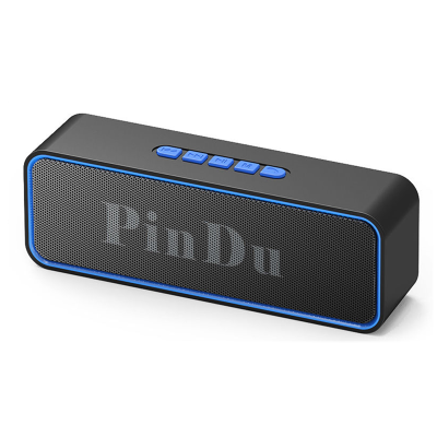 手機無線藍牙音響低音炮藍牙音箱大音量語音播報器電腦小音響 藍色