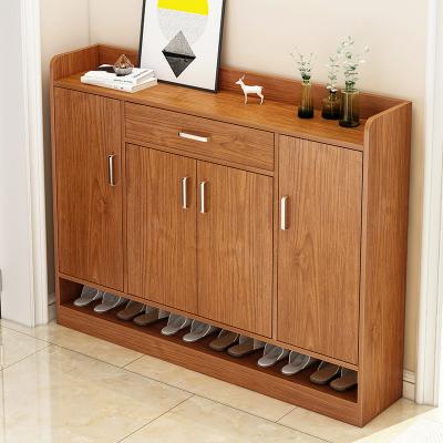 鞋柜家用大容量進儲物柜子簡約現代玄關柜省空間口實木色鞋架