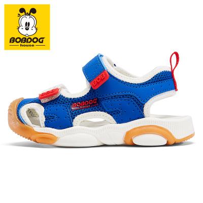 BOBDOG HOUSE巴布豆童鞋兒童涼鞋夏季男童女童寶寶3-7歲沙灘鞋魔術貼6253