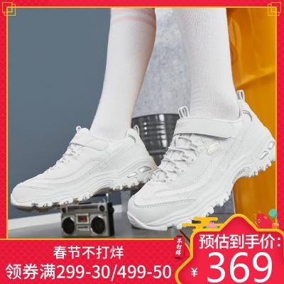 Skechers斯凯奇运动鞋 男女青少年鞋轻便小白鞋透气亲子熊猫鞋996212L