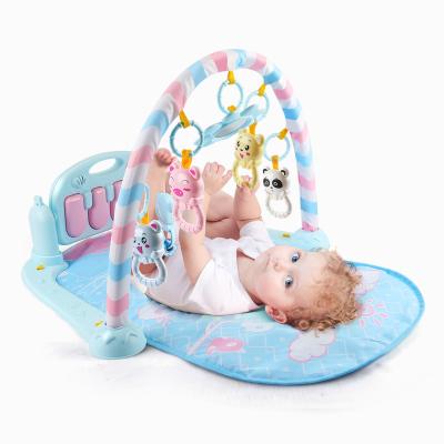 紐奇(Nukied)嬰兒玩具健身架 新生兒早教益智音樂玩具多功能多配件0-1歲寶寶腳踏鋼琴健身架
