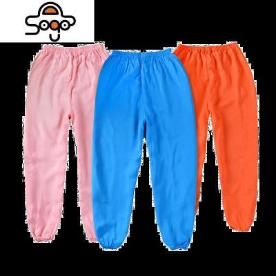 兒童棉綢防蚊褲夏薄款寶寶睡褲女童空調褲男童燈籠褲練功褲成人