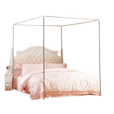 【規格:1.2*2m 32mm立柱】蚊帳支架 三開門蚊帳支架 金屬三通加粗 加厚不銹鋼雙人家用床 堅固耐用