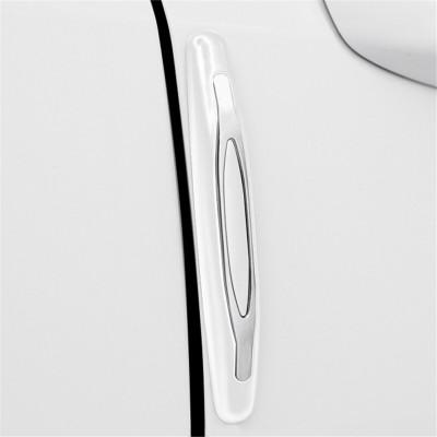 華飾 汽車車門防撞膠條車門防撞條車身防撞貼通用型車邊角防刮防擦磕膠條汽車用品 白色