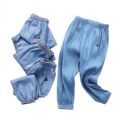 男童褲子夏裝2020新款男孩燈籠褲薄款防蚊褲洋氣潮夏季兒童牛仔褲威珺