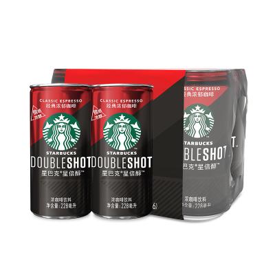 starbucks/星巴克星倍醇经典浓郁228ml*6 浓咖啡饮料