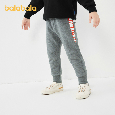巴拉巴拉男童褲子兒童長褲寶寶童裝2020秋裝新款洋氣慢跑運動褲帥