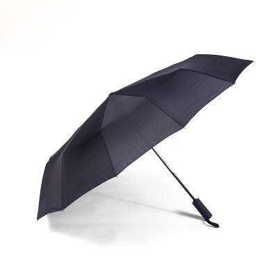 A&D純色自動晴雨傘黑色