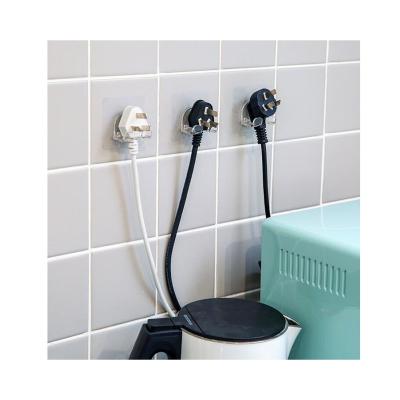 5個裝 插頭掛鉤廚房電源插頭收納掛架家用電線插座整理收納掛鉤無痕粘膠
