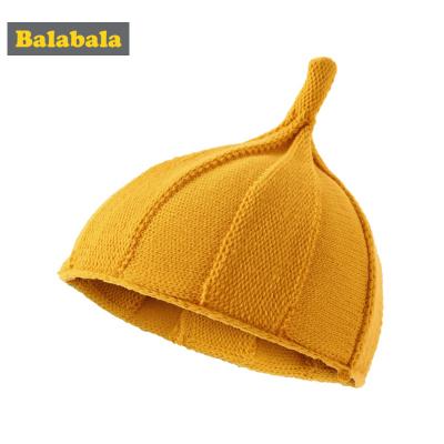 巴拉巴拉女童帽子冬季新款可爱韩版宝宝保暖儿童针织毛线帽尖尖帽