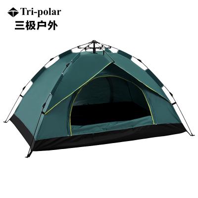 三極戶外(Tripolar) TP2353 全自動單層速拋帳篷戶外免搭建自動帳篷速開單層帳野營3-4人帳篷防雨防曬