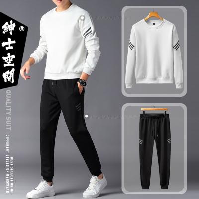 绅士空间2020春季青少年休闲运动套装男韩版宽松男士套装校园运动服两件套男BH.910-2