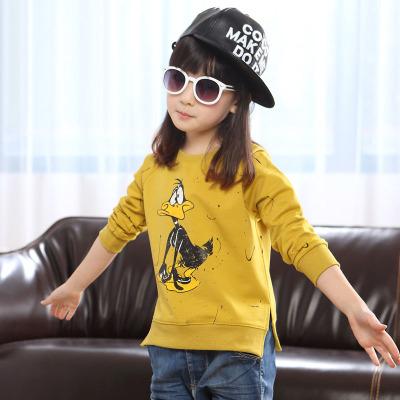 女童春秋款长袖T恤纯棉中大童儿童圆领打底衫韩版女孩上衣宽松威珺