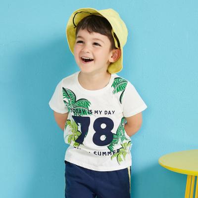 【99元4件】moomoo童裝男童短袖t恤新款幼童純棉休閑印花兒童裝男童夏裝