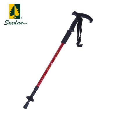 sevlae圣弗萊T柄3節伸縮登山杖徒步拐棍手杖拐杖9153677201