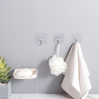 【10個裝】掛鉤貼強力承重免打孔粘膠貼不銹鋼墻壁掛墻上吸盤無痕浴室廚房粘貼掛勾