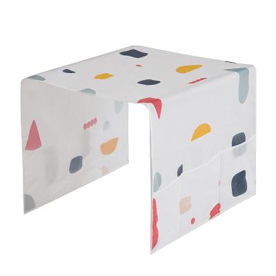 冰箱套防塵罩掛架布藝冰箱頂防塵布收納袋式蓋布冰箱蓋巾收納掛袋 顏色隨機