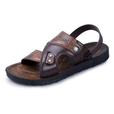 羊騎士 男士涼鞋2019新款夏季沙灘鞋 休閑拖鞋男大碼軟底爸爸涼拖鞋男潮流戶外運動鞋子