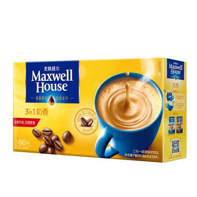 麦斯威尔 奶香速溶咖啡 780g/盒 60条盒装
